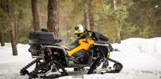 На чому їздити взимку? Гусениці «APACHE 360» і «Backcountry» для квадроциклів Can-Am.